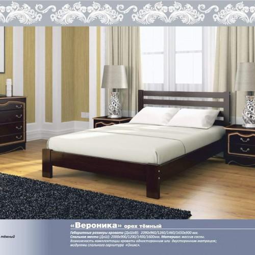 """Кровать из массива """"Вероника"""" Орех темный"""