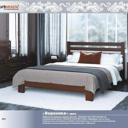 """Кровать из массива """"Вероника"""" Орех размер 1600*2000"""