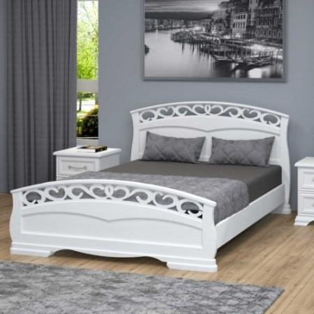 """Кровать из массива """"Грация-1"""" Белый античный"""