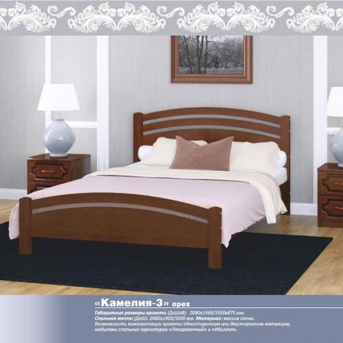 """Кровать из массива """"Камелия-3"""" Орех"""