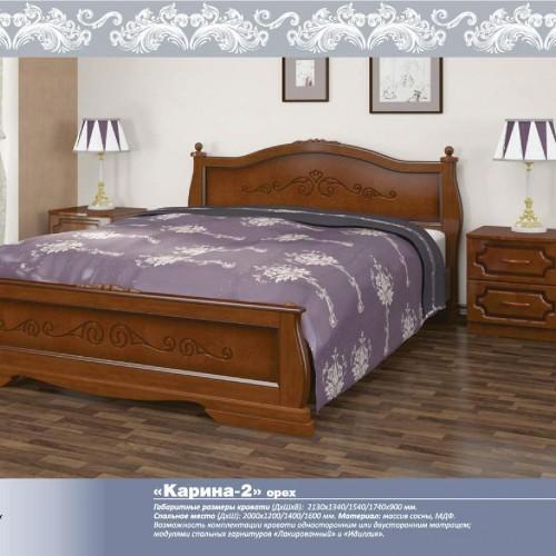 """Кровать из массива """"Карина-2"""" Орех"""