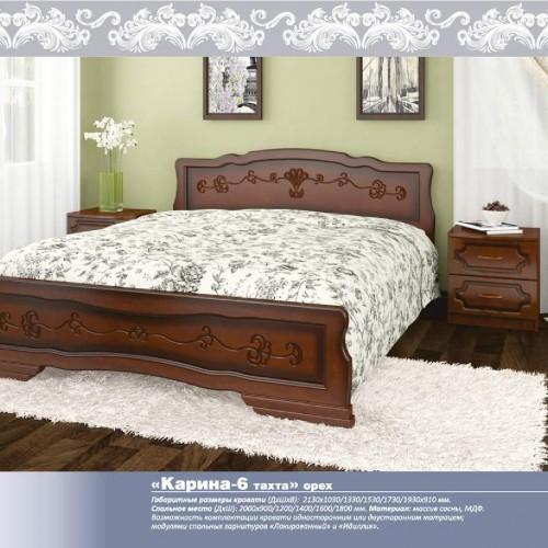 """Кровать из массива """"Карина-6 тахта"""" Орех"""