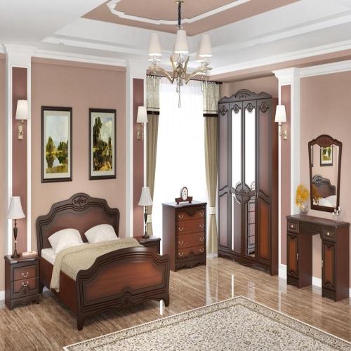 ЛОТОС(ЛАК)  кровать двойная 1400х2000 спальный гарнитур