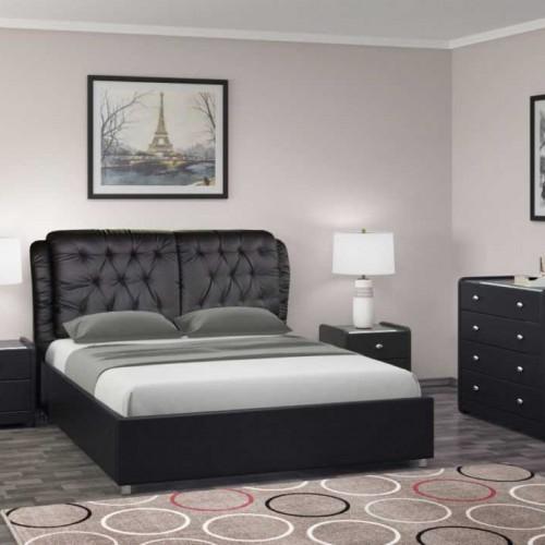 """Кровать из экокожи с металлокаркасом """"Монако"""""""