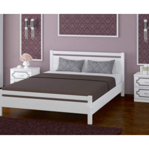 """Кровать из массива """"Вероника-1"""" Белый античный 1200*2000"""