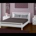"""Кровать из массива """"Вероника-1"""" Белый античный размер 1400*2000"""