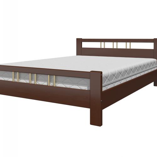 """Кровать из массива """"Вероника-3"""" Орех"""