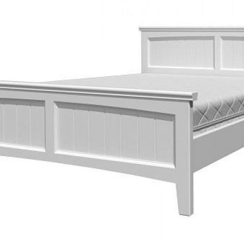 """Кровать из массива """"Грация-4"""" Белый античный"""