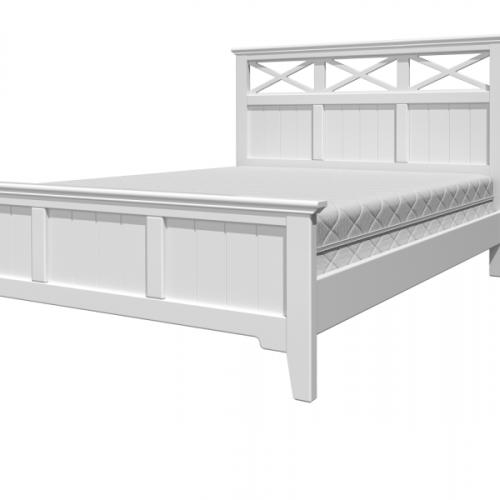 """Кровать из массива """"Грация-5"""" Белый античный/белый"""