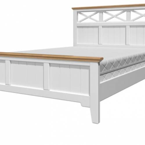 """Кровать из массива """"Грация-5"""" Белый античный/сосна"""