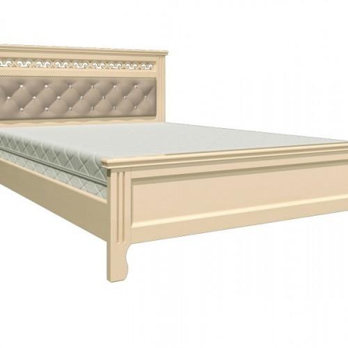 """Кровать из массива """"Грация"""" Дуб молочный размер 1400*2000"""
