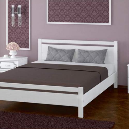 """Кровать из массива """"Вероника-1"""" Белый античный"""