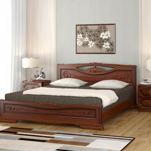 """Кровать из массива """"Елена-3"""" Орех"""