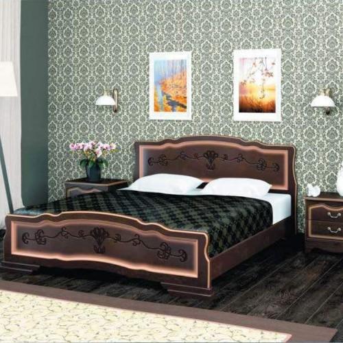 """Кровать из массива """"Карина-6"""" Орех темный"""
