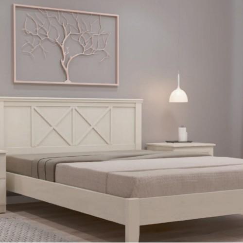 """Кровать из массива """"Грация-2"""" Белый античный"""