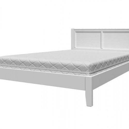 """Кровать из массива """"Грация-3"""" Белый античный"""