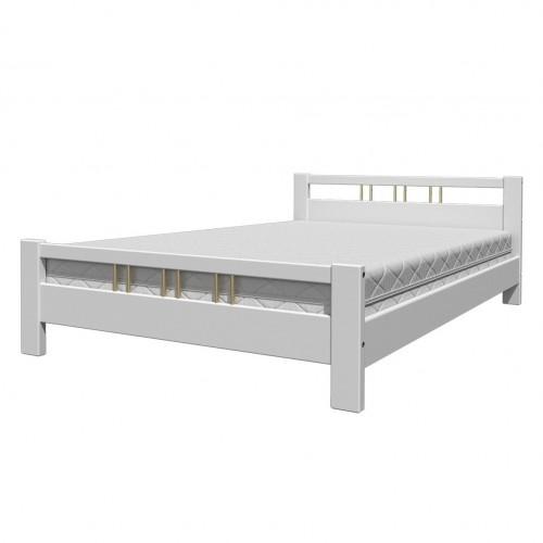 """Кровать из массива """"Вероника-3"""" Белый античный"""