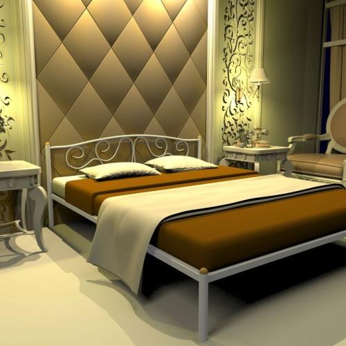 Кровать кованная Милсон Ангелина белая