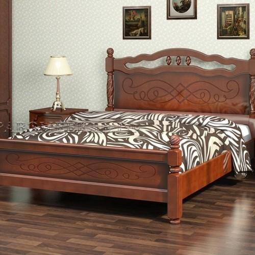 """Кровать из массива """"Карина-15"""" Орех"""