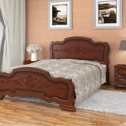 """Кровать из массива """"Карина-17"""" Орех"""
