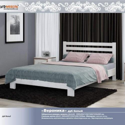 """Кровать из массива """"Вероника"""" Белый Античный"""